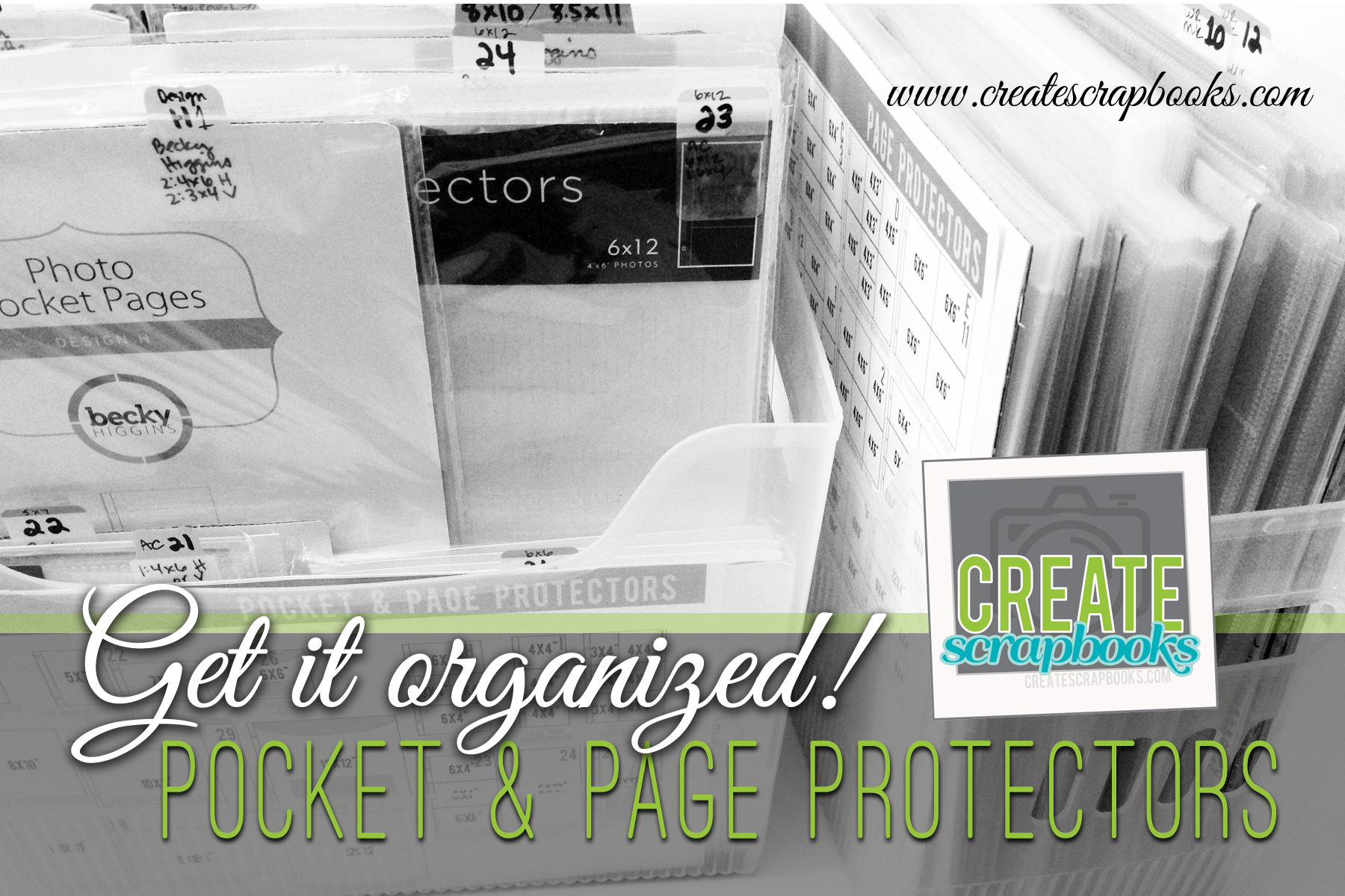 Ready to get your Project Life Pocket and Page Protectors organized? Check out this method with FREE printables to get you started from CreateScrapbooks.com
