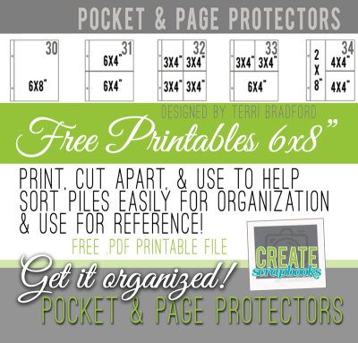 FREE printables from CreateScrapbooks.com to organize your pocket and page protectors for project life 6x8 simple stories albums!