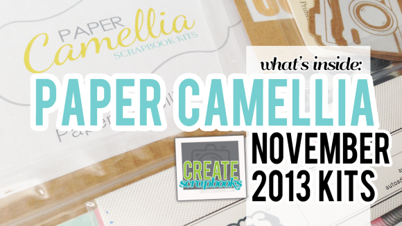Video about Paper Camellia Scrapbooking Kit Club & Add-Ons