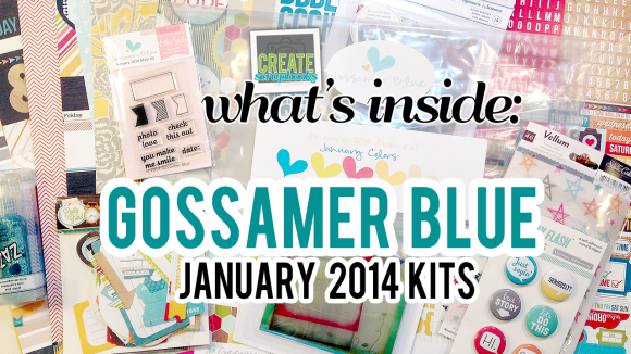 Create Scrapbooks Video: What's Inside Gossamer Blue January 2014 Main Scrapbook Kit & Life Pages Kit (Exclusive Project Life Cards, Paper, & Stamps)