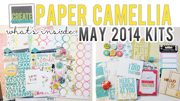 What's Inside Video: PaperCamellia.com MAY 2014 Scrapbook Kit & NEW Everyday Life (pocket page style) Kit Release