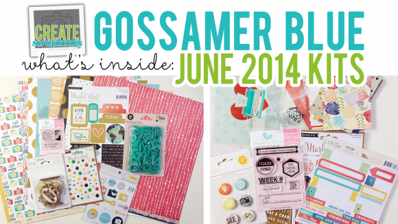 http://youtu.be/UtulG3FTP6Q JUNE 2014 - What's Inside Video Gossamer Blue Scrapbook Kits ScrapClubs CreateScrapbooks