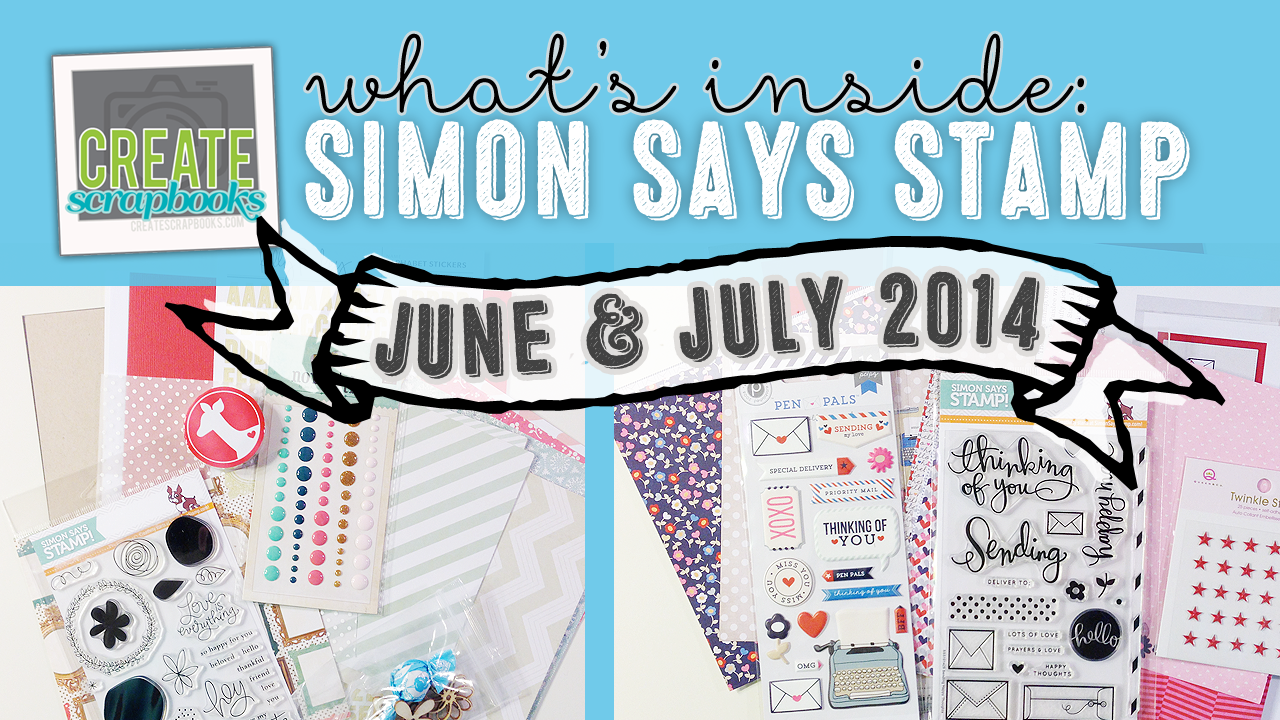 "http://youtu.be/J9whfi7dIbw - What's Inside VIDEO: Simon Says Stamp - JUNE 2014 ""YOU ARE MY FAVORITE"" & JULY 2014 - ""SENDING HAPPY MAIL"" Exclusive Card Kit of the Month with SSS Stamp Set"