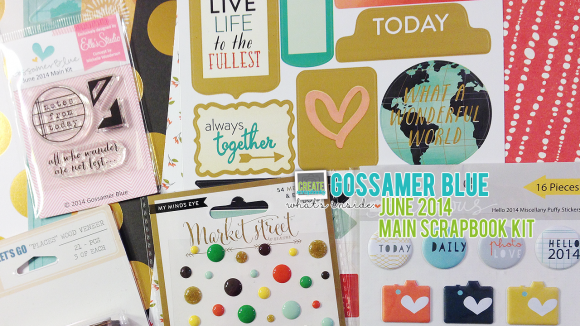 GossamerBlue.com: JUNE 2014 Scrapbooking Kit Release Featuring Exclusive Paper, Stamps, Print and Cut Files