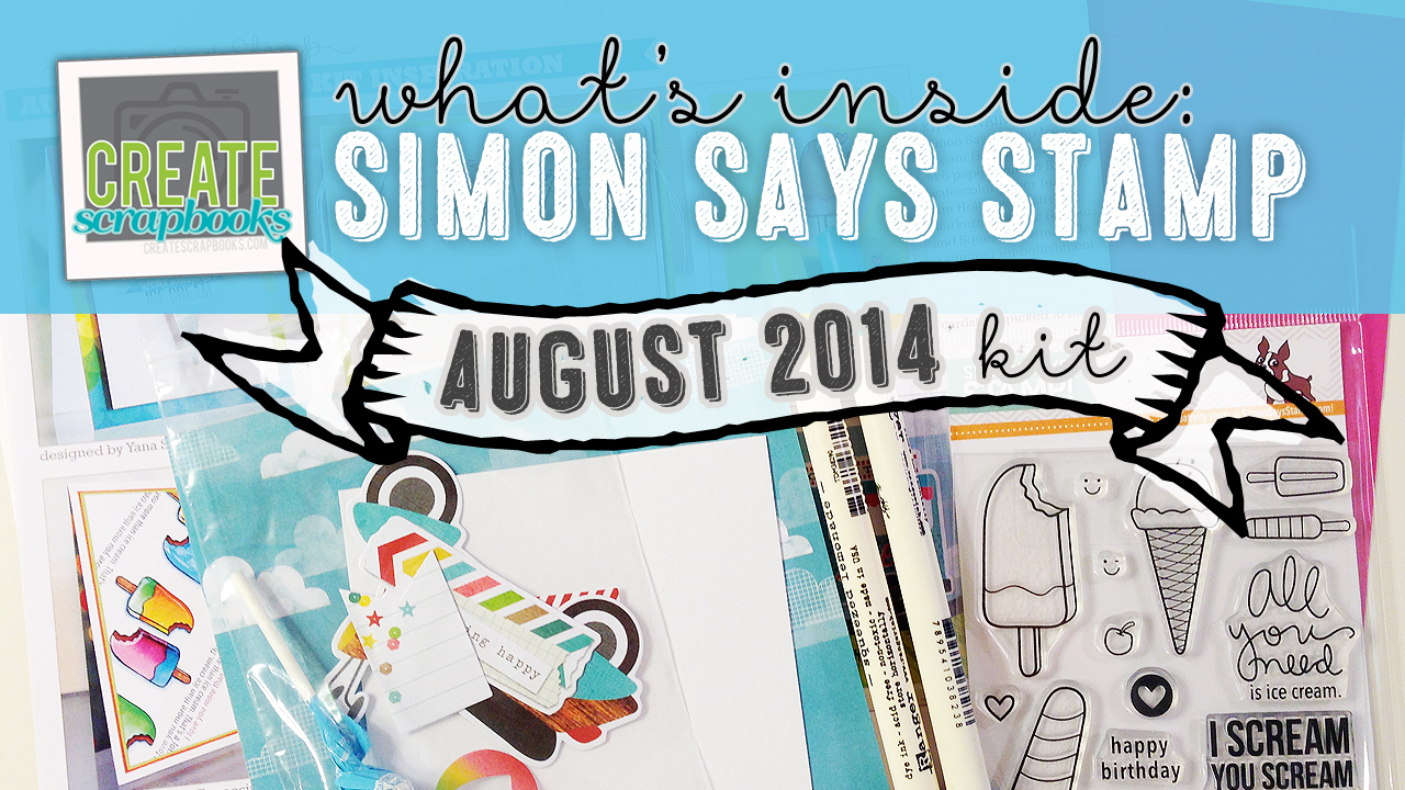 """http://youtu.be/XIY0GAFJOXg - What's Inside VIDEO: Simon Says Stamp - AUGUST 2014 """"SUMMER DREAMS"""" & AUGUST 2014 - """"SUMMER DREAMS"""" Exclusive Card Kit of the Month with SSS Stamp Set"""