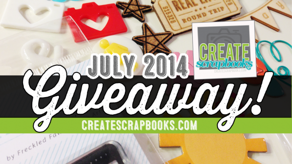 JULY 2014 GIVEAWAY: CreateScrapbooks.com YouTube channel kit goodies - enter to win some Freckled Fawn supplies!