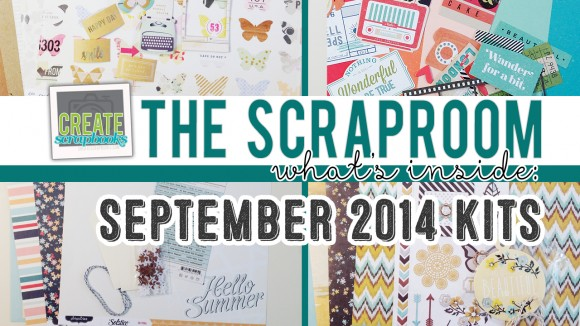 http://youtu.be/nkatwWuIjKA - SEPTEMBER 2014 - Create Scrapbooks What's Inside Video featuring THE SCRAPROOM Scrapbook Kits + Project Life Kit + Add-Ons