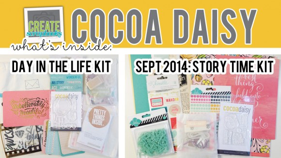 http://youtu.be/5XpbmzhejWM - Create Scrapbooks What's Inside VIDEO: Cocoa Daisy STORY TIME Scrapbook Kit, DAY IN THE LIFE KIT - SEPTEMBER 2014 Exclusive Kits