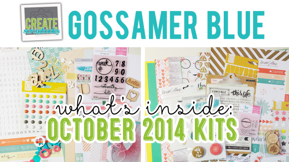 http://youtu.be/i5JhtMQB0o0 - OCTOBER 2014 - Create Scrapbooks What's Inside Video featuring Gossamer Blue Scrapbook Kits