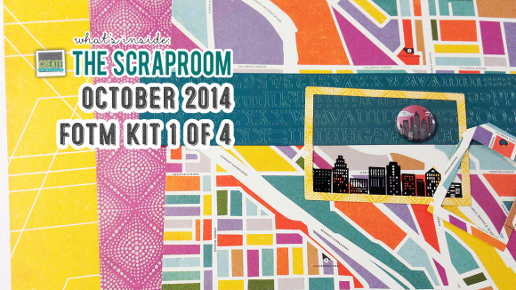 FOTM Kit #1 Scrap-Room.com OCTOBER 2014 - Create Scrapbooks What's Inside Video featuring THE SCRAPROOM Scrapbook Kits + Project Life Kit + Add-Ons
