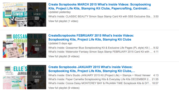 http://youtube.com/CreateScrapbooks CreateScrapbooks YouTube Scrapbooking Videos, Kit Clubs