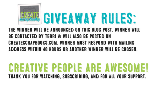 Scrapbook Giveaway Rules